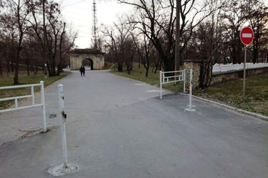 В Херсоне в городском парке украли ворота