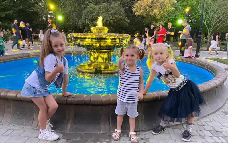 Сальдо открыл обновлённый фонтан в Потёмкинском сквере, - ФОТО